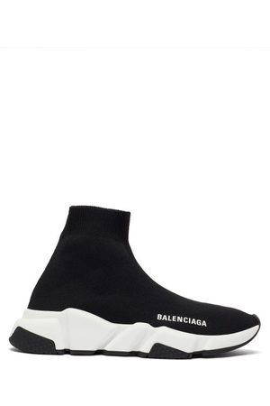 Balenciaga Women Flat Shoes - Speed Recycled-knit Trainers - Womens