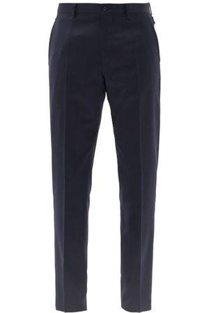 Dolce & Gabbana Slim-leg Wool-blend Tailored Trousers - Mens - Navy