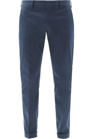 Paul Smith Organic-cotton Slim-leg Chino Trousers - Mens - Navy
