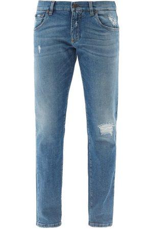 Dolce & Gabbana Distressed Slim-leg Jeans - Mens