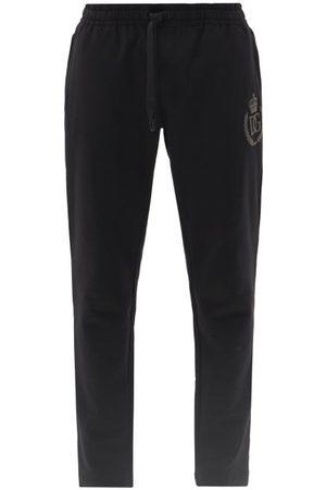Dolce & Gabbana Men Sweatpants - Logo-appliqué Cotton-jersey Track Pants - Mens