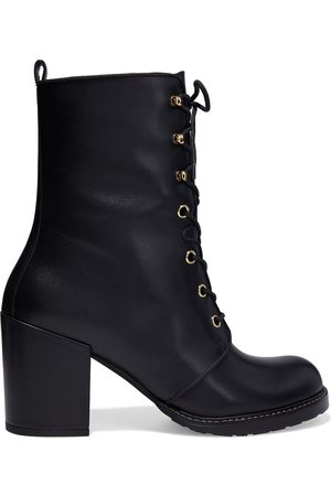Stuart Weitzman Woman Cassey Textured-leather Ankle Boots Size 35.5