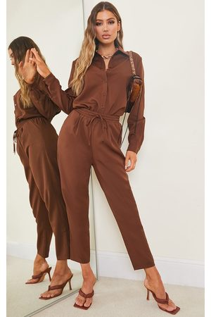 PRETTYLITTLETHING Chocolate Cigarette Pants