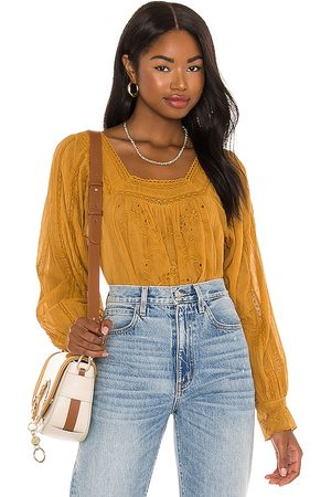 Free People Faraway Fields Top in Tan.