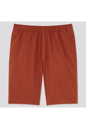 UNIQLO Men Shorts - Men's Dry Stretch Easy Shorts, Orange, S