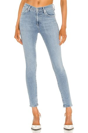 Citizens of Humanity Women Rocket Mid Rise Skinny Ankle in Blue.