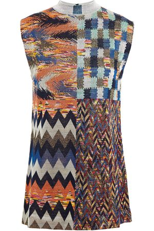 Missoni Women Tank Tops - Woman Metallic Jacquard-knit Top Size 42
