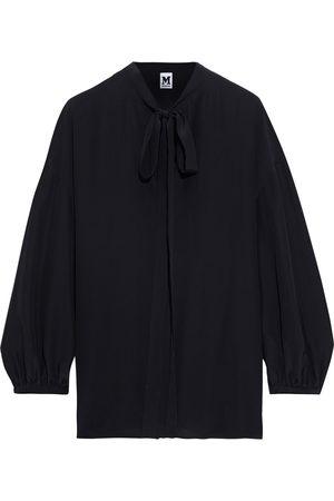 M Missoni Women Blouses - Woman Tie-neck Silk Crepe De Chine Blouse Size M