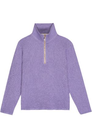Donni. Women Sweaters - The waffle 1/2 zip pullover