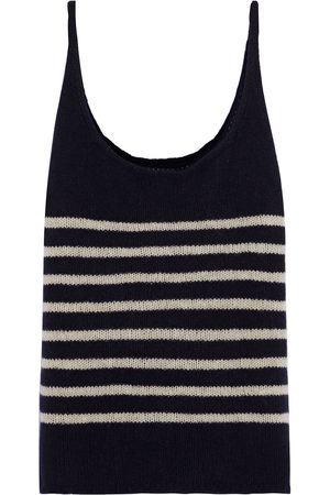 Khaite Woman Betty Striped Cashmere Tank Size L