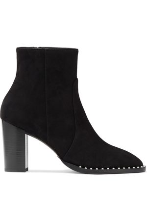 Stuart Weitzman Woman Kailee Faux Pearl-embellished Suede Ankle Boots Size 36