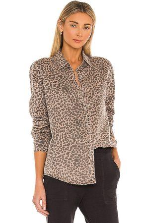 MONROW Mini Leopard Basic Shirt in Brown.
