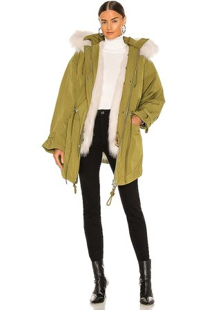 EAVES Morganna Parka in Army.