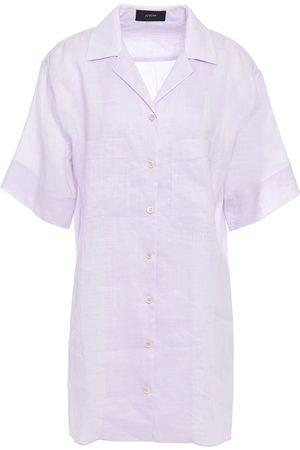 Joseph Women Short sleeves - Woman Brani Ramie-gauze Shirt Lilac Size 34