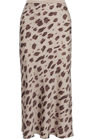 ANINE BING Woman Leopard-print Silk-satin Skirt Animal Print Size M
