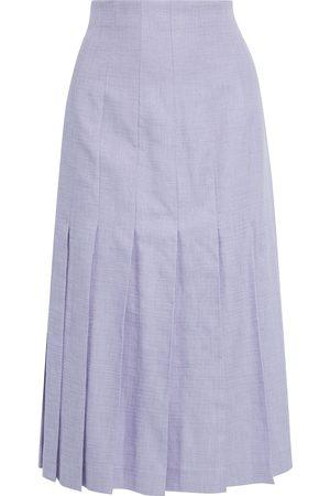 Joseph Women Midi Skirts - Woman Pleated Woven Midi Skirt Lilac Size 36