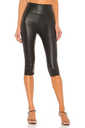 SPRWMN Cropped Leather Leggings in .