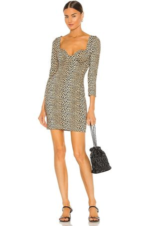 LPA Women Bodycon Dresses - Lille Mini Dress in Brown.