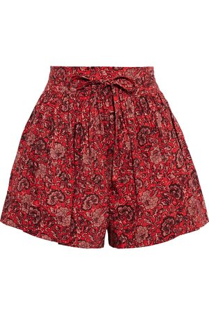 ULLA JOHNSON Women Shorts - Woman Kira Belted Printed Cotton-blend Shorts Size 0