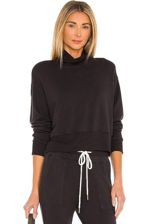 MONROW Supersoft Fleece Mock Neck Slouchy Sweatshirt in .