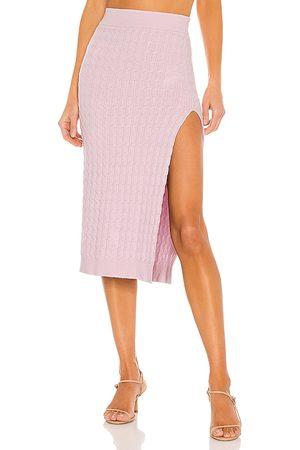 LPA Charlotte Midi Skirt in Lavender,Pink.