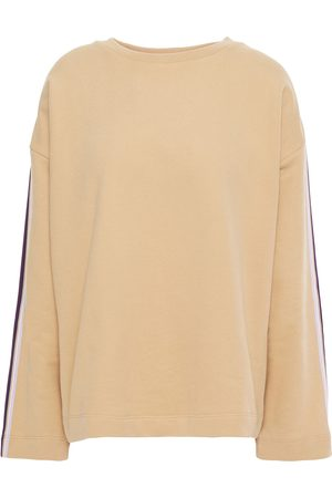 Chinti & Parker Women Sweatshirts - Woman Striped French Cotton-terry Sweatshirt Sand Size L