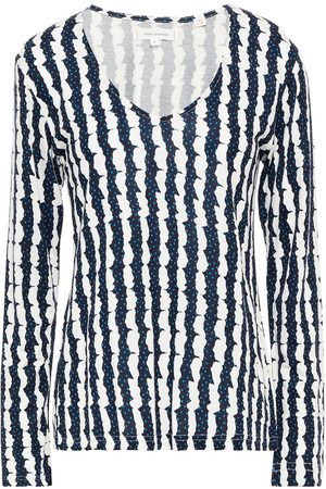 Chinti & Parker Woman Printed Bamboo-jersey Top Navy Size XS