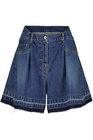 SACAI Wide-leg denim shorts