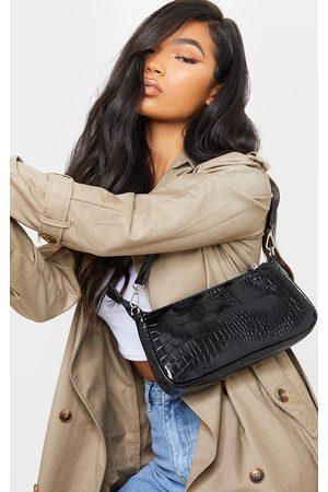 PRETTYLITTLETHING Croc Shoulder Bag