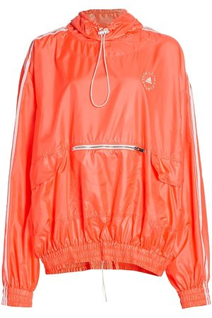 Stella McCartney Women Anoraks - Women's Jayla Anorak Drawstring Jacket - Fluoro Coral - Size 12