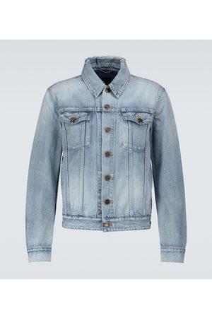 Saint Laurent Men Denim Jackets - Destroyed denim jacket
