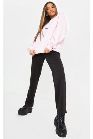 PRETTYLITTLETHING Women Straight Leg Pants - Casual Slouch Straight Leg Pants