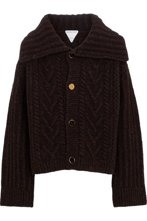 Bottega Veneta Women Cardigans - Cable-knit wool cardigan