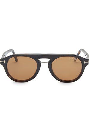 Tom Ford Women Round - Women's 49MM Block Soft Round Eyeglasses - Havana