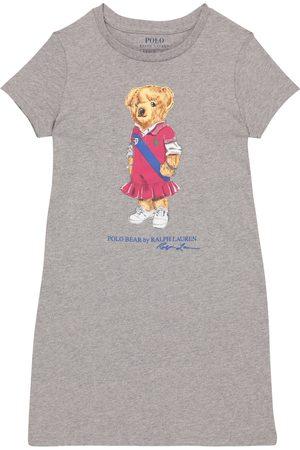 Ralph Lauren Girls Casual Dresses - Polo Bear cotton dress