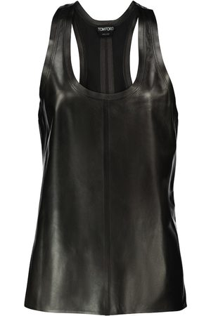 Tom Ford Women Tank Tops - Leather tank top