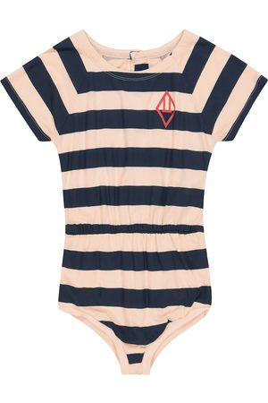 The Animals Observatory Girls Casual Dresses - Rabbit striped cotton-jersey playsuit