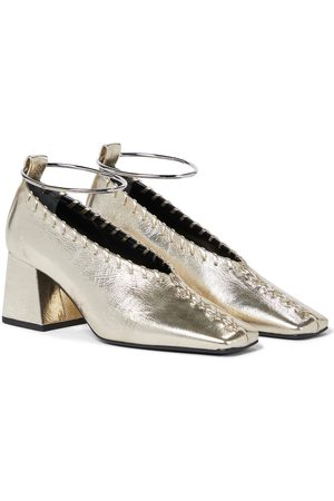 Jil Sander Women Pumps - Embellished leather pumps