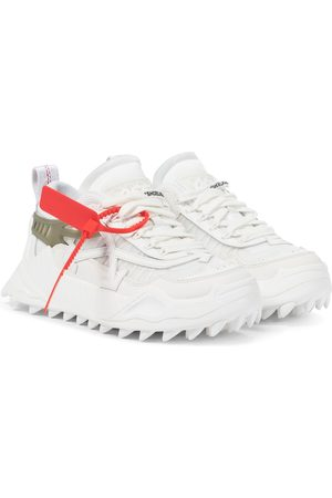 OFF-WHITE Odsy-1000 leather-trimmed sneakers