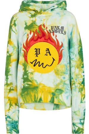 Palm Angels Women Hoodies - Tie-dye cotton hoodie