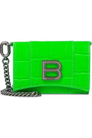 Balenciaga Hourglass Mini leather clutch