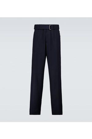 DRIES VAN NOTEN Men Wide Leg Pants - Wool-blend wide-leg pants