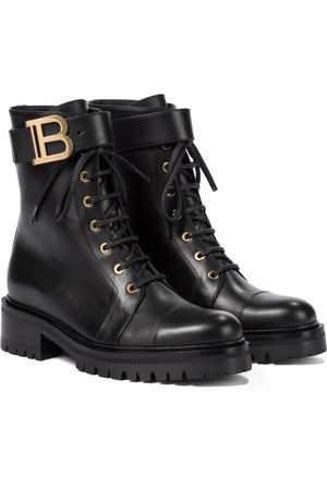 Balmain Women Ankle Boots - Ranger Romy leather combat boots