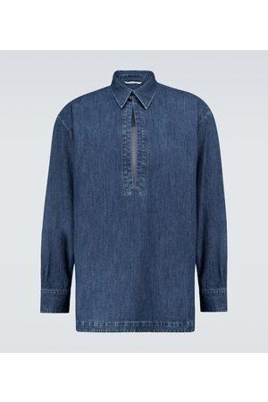 VALENTINO Denim chambray kaftan shirt