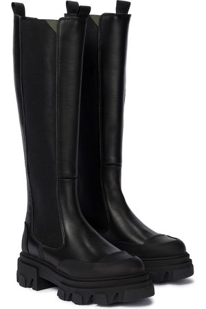 Ganni Exclusive to Mytheresa – Leather knee-high boots