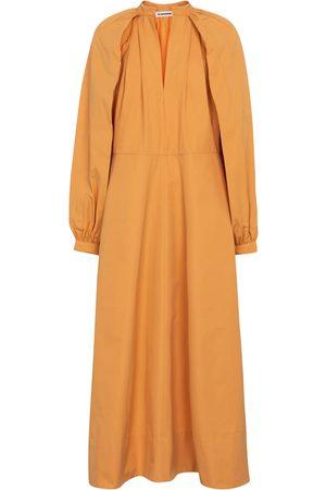 Jil Sander Women Maxi Dresses - Cotton-poplin maxi dress in white