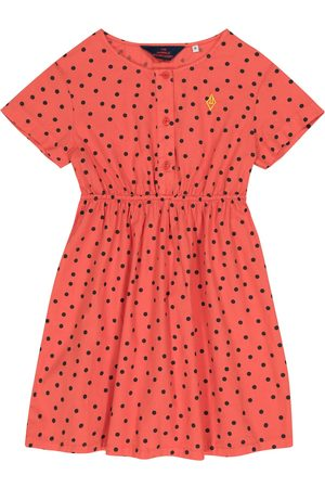 The Animals Observatory Dolphin polka-dot cotton dress