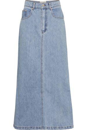 Nanushka Women Midi Skirts - Claudia high-rise denim midi skirt