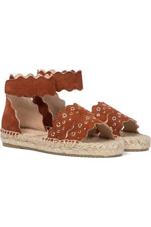 Chloé Girls Espadrilles - Lauren suede espadrille sandals