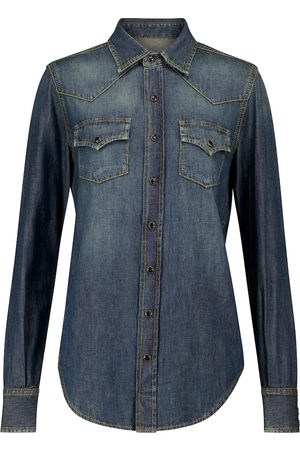 Saint Laurent Women Denim - Denim shirt